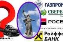 Автокредит в банках Волгограда - кредит на покупку автомобиля