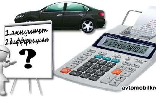 Как рассчитать ежемесячный платеж по автокредиту - виды платежей